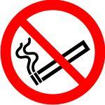 Ohutus - silt Suitsetamise keeld - kleebis 15x15cm, märgis