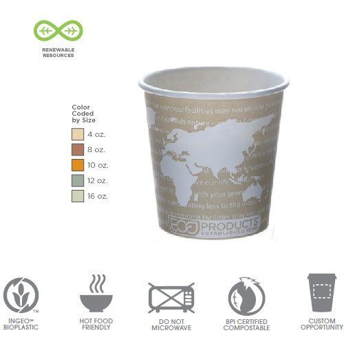 Kohvitops WA Espresso komposteeritav 120ml (4oz) 50tk/pk