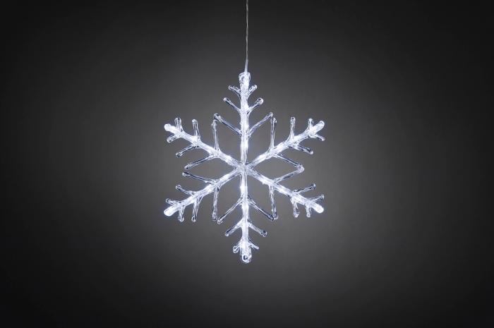 Akrüülist lumehelves 40x40cm, 24ww LED tuld, IP44 trafo, 500cm juhe /õue ja siseruumi