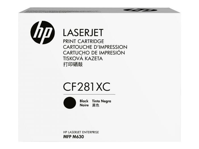 Tooner HP CF281XC Contract Black/must 25000lk, LaserJet Enterprise Flow M630z, Flow MFP M630z, M605dn/n/x,M606dn/x, M630dn/f/h