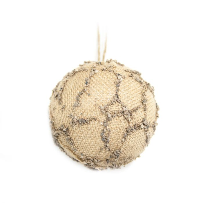 Jõuluehe NATURE, D10cm, pall, jute