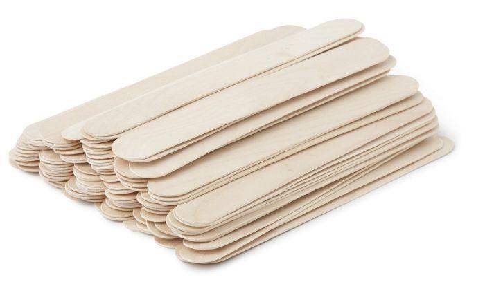 Jäätisepulgad, eriti suured, 203 x 25 mm, 500 tk, (naturaalne puit)