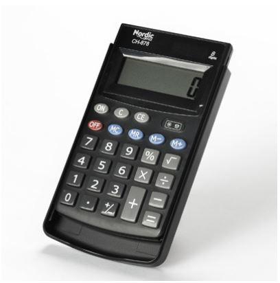 Taskukalkulaator Nordic Office CH-878, 8-kohaline ekraan, plastikust kaas
