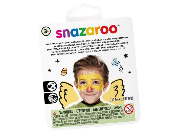 Näovärvide komplekt Chick Snazaroo mini 3värvi+pintsel+svamm