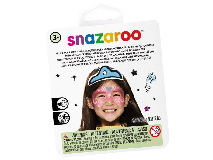 Näovärvide komplekt Festive mask Snazaroo mini 3värvi+pintsel+svamm
