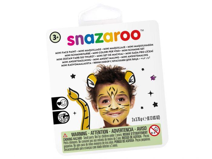 Näovärvide komplekt Tiger Snazaroo mini 3värvi+pintsel+svamm