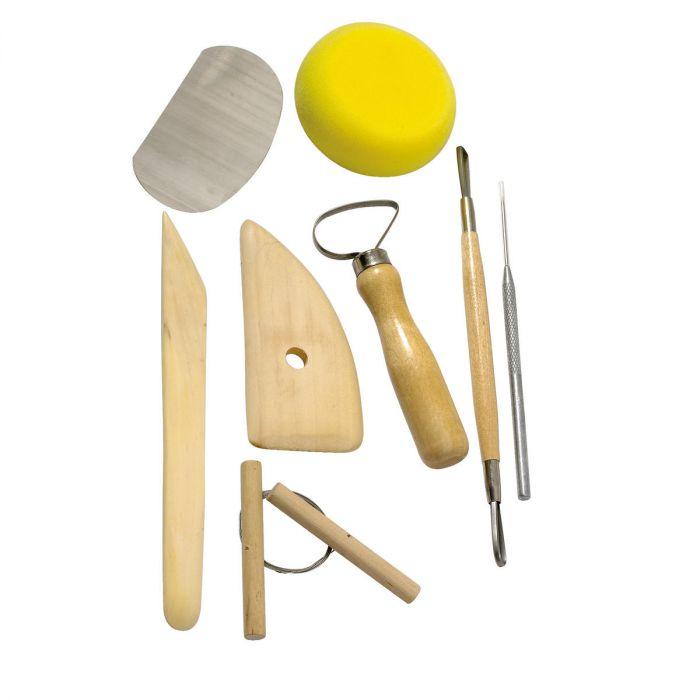 Tööriistad savi voolimiseks, 8 osa