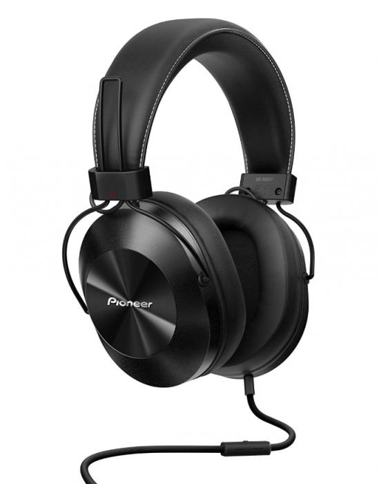 Kõrvaklapid+mikrofon Pioneer SE-MS5T-K black/must juhtmega 40mm 9Hz-40kHz 1000mW 32ohm 96dB kaabel 1.2m pistik 4-pin 3.5mm stereo