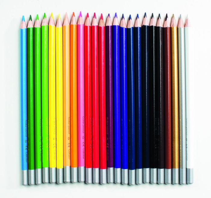 Värvipliiatsid Lekolar, kolmekandiline, 24 värvi