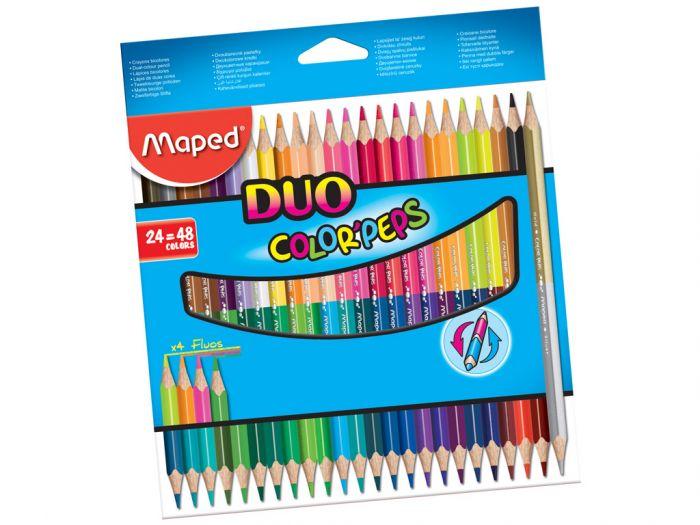 Värvipliiats ColorPeps Duo 24tk.=48tk., Maped