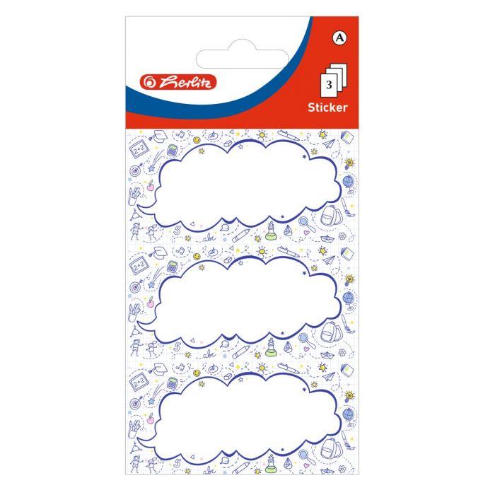 Vihikukleebised Pilveke 9tk pakis