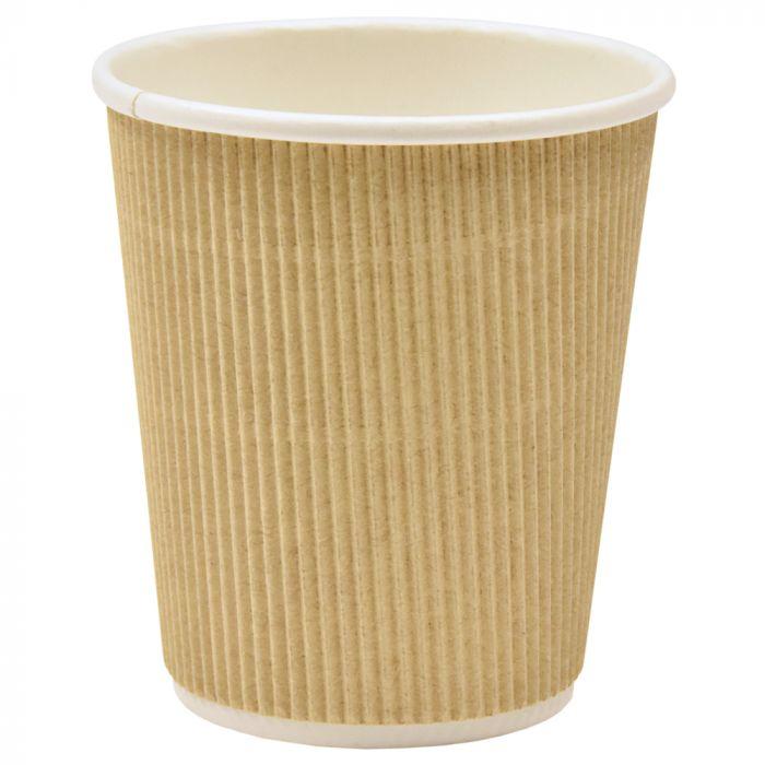 Kohvitops papist reljeefne pruun 250ml, 25tk/pk