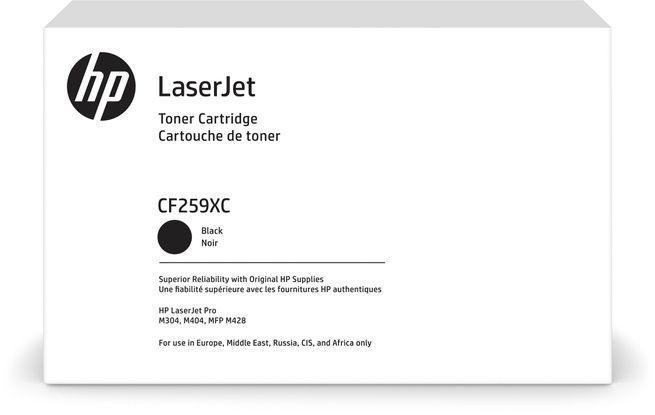 Tooner HP CF259XC Black Contractual LaserJet Toner cartridge Black/must suuremahuline 10000lk LaserJet Pro M304a M404dn/dw/n, MFP M428dw/fdn