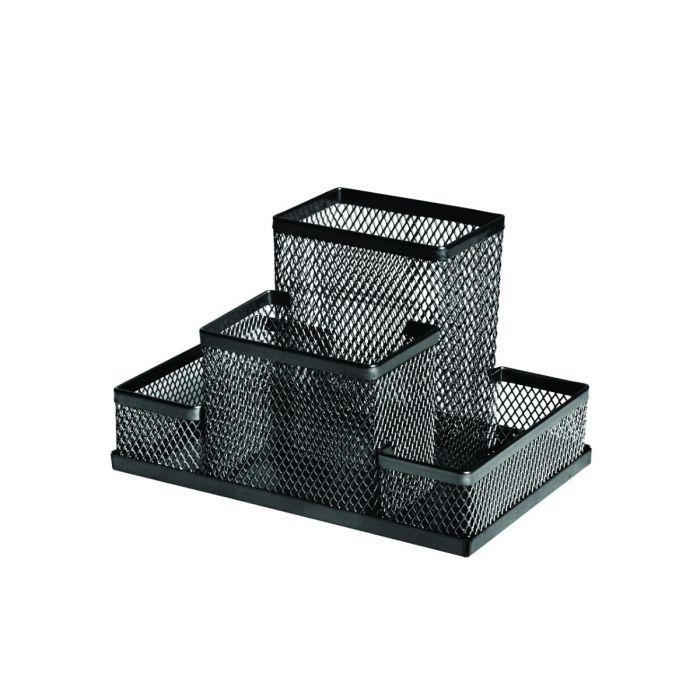 Kirjatarvete alus Forofis, must metall võrk, 15.3x10.3x10cm