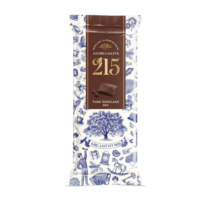 Tume shokolaad 215 juubeliaasta, KALEV, 100g