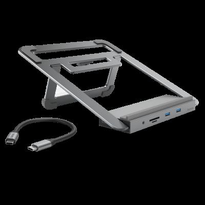 Sülearvuti alus ja dokk Hama 12-in-1 USB-C multiport adapter (LAN,Headset, SD-card reader, USB3.2, VGA, HDMI) 100W, Thunderbolt compatible