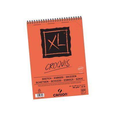 Eskiisiplokk Croquis XL A4/90g 120 lehte spiraal