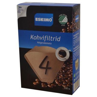 Kohvifilter Nr.4, 100tk/pk