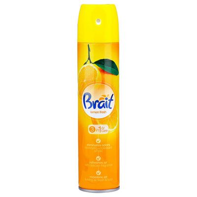 Õhuvärskendaja aerosool BRAIT 3in1 Lemon 300ml/240ml