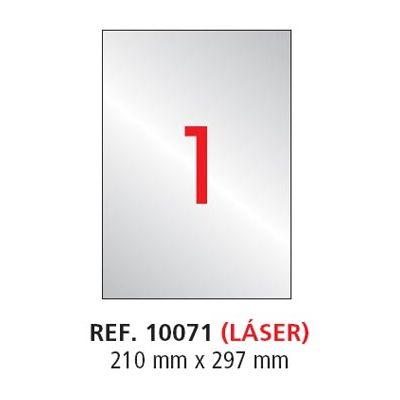 Etikett Apli 210x297 Ref.10071 hõbe polüester, 20lehte pakis, ilmastikukindel