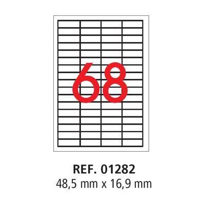 Etikett APLI 48,5x16,9 Ref.1282/3128 100l/pk