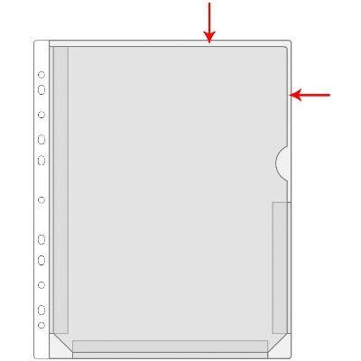 Kiletasku känguru F-tasku A4 roheline, PVC, Prolexplast köidetav,
