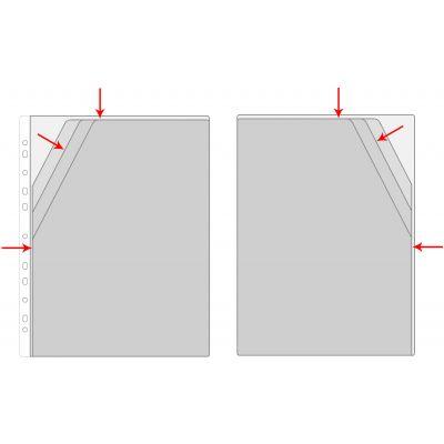 Kiletasku A4 kolme jaotusega, köidetav Prolexplast,