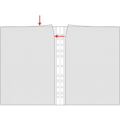 Kiletasku A4 köidetav, topelttasku, Prolexplast