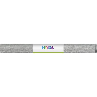 Krepp- paber 50x250cm 60gsm silver, Heyda, Brunnen
