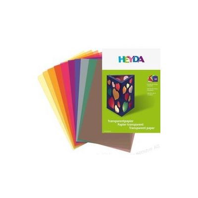 Kalka A4 115g, 10lehte pakis (punane,kollane,roheline,sinine,oranz), Heyda