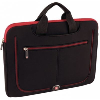 Laptopi kott Wenger Resolution 13 Macbook Sleeve 13` Black/Red 2L 2x33x24cm