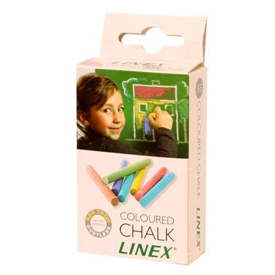 Kriit Linex ümar, värviline,10tk