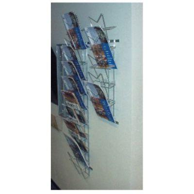 Kataloogihoidja 5xA4 seinale 010054/ kroom