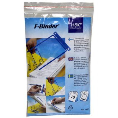 Arhiivikarbi klamber köitepiik D-Clip, sinine F-binder 8cm metallklamber,10tk/pk