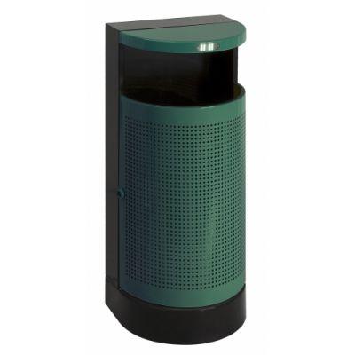Prügikast välitingimustesse 35l, K-90cm, metall /roheline