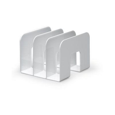 Raamatuhoidja/kataloogihoidja Trend, 3-osaline valge  215x210x165mm Durable