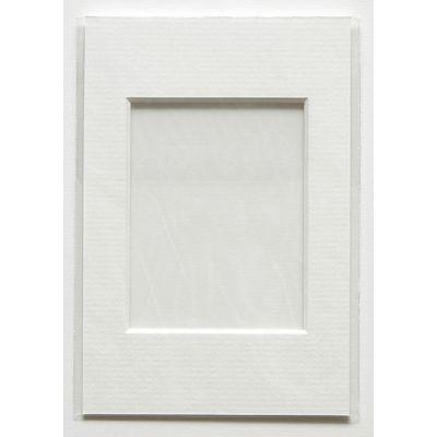 Paspartuu 40x50 (sisemõõt 29x39) lumivalge, valge siseäär