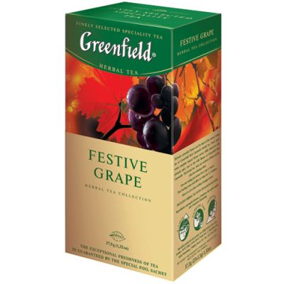 Taimetee Greenfield Festive Grape 2g*25 tk/pk (fooliumümbrik)