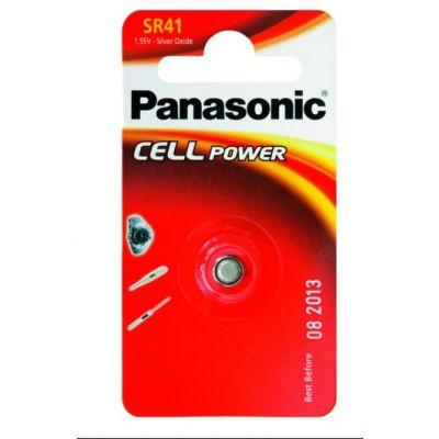Patarei Panasonic SR41SW alkaline 1,55V 45mAh (diam 7,9mm x 3,6mm) 1 patarei (384/392/AG3/192 C10/LR41 303041/101716)