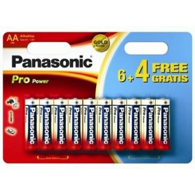 Patareid Panasonic Pro Power Gold AA LR6PPG/10B, 10tk AA patareid (6tk + 4tk tasuta)