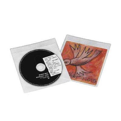 CD-tasku kahele, valge, 1 pakk (pakis 25 taskut)
