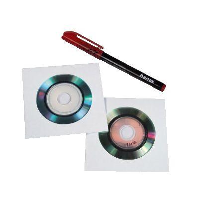 Ümbrik CD-ümbrik paberist, ühele, 25 ümbrikut - 8cm mini-CD/mini-DVD