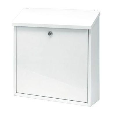 Postkast MALAGAN K36xL36x10cm/ värvitud metall/ valge