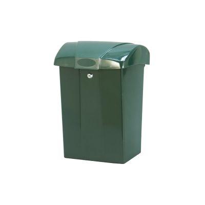 Postkast sajukindla kaanega 44x31x20cm, silinderlukk+2 võtit/ plastik/ roheline