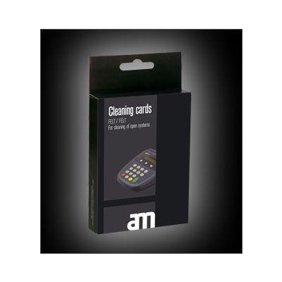 Makseterminali puhastuskaart AM - avatud magnetriba süsteemile, kahepoolse puhastusribaga, niisutatud, 10tk
