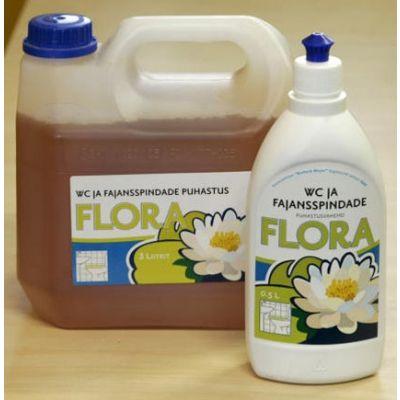WC pottide ja fajansspindade puhastusvahend  FLORA 3l