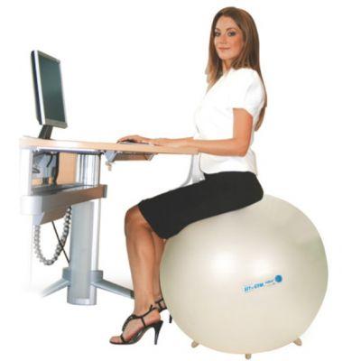 Istumispall Sit n Gym D-65cm Pumbaga, väikeste jalakestega/ valge pärlmutter, inimese kasvule 150-175cm