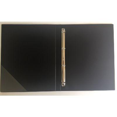 Noodikaaned A4 rõngasklambriga must soft, kuld fooliumtrükiga