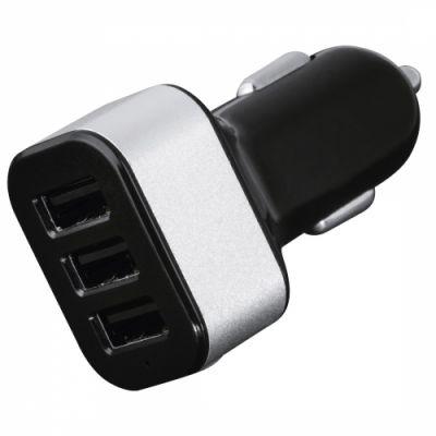 Autolaadija Hama USB Car Charger, 4.4A 22W 3xUSB-pesa