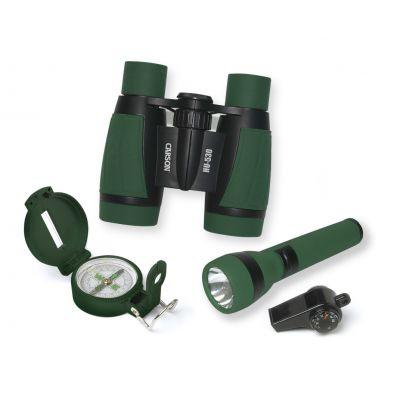 Binokkel Carson HU-401 Adventure pack - komplekt taskulambi- kompassiga, vilega